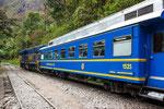 Die berühmte Machu Picchu Eisenbahn...