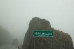 ...die Passhöhe bei Nebel, Regen und Kälte...