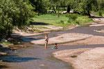 ...einen sauberen Fluss in dem man baden kann...
