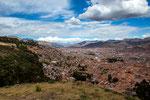 ...Blick von Saqsayhuaman auf Cusco...