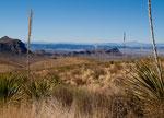 """Ganz im Hintergrund der """"Santa Elena Canyon"""" Durchbruch"""