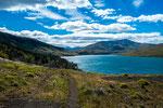 ...entlang des Lago Azul hat uns begeistert.