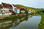 Medivial town Wertheim on the river Main and here the river Tauber...