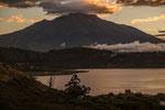 ....und dem Vulkan Imbabura....