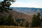 in the back ground the deep Hells Canyon