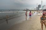 ...das Wasser und der Strand hat uns aber nicht eingeladen....