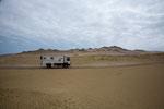 Stundenlang geht es durch die Wüste Perus....