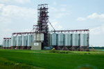 Hier die modernen Weizensilos
