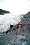 Leider darf man um diese Jahreszeit nicht mehr direkt an den Gletscher - zu gefährlich