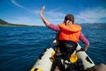 Schiff ohoi - ein Traum auf diesem glasklaren See