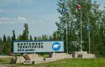 der 60te Breitengrad als Grenze zwischen Alberta und NWT