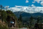 Zum ersten Mal sehen wir den höchsten Berg Perus - den Huascaran....