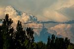 Gewaltige Wolkenformationen über der Pampa - aber kein Regen...