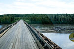"""...längste Behelfsbrücke der Welt über den """"Fort Nelson River"""""""