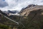 ....hier sieht man den enormen Rückgang der Gletscher....