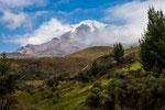 Der gewaltige Chimborazo kommt in Sicht....