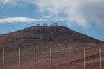 Blick auf die vielen Riesenteleskope - näher durften wir nicht ran...