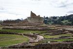 Im Hintergrund der Sonnentempel der Inka.....
