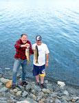 Eric der Fischer und Warren der Skipper