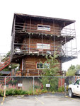Tower house completetely made of wood