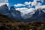 """...links """"Cerro Norte"""" und """"Cerro Este"""" rechts """"Monte Almirante Nieto""""..."""