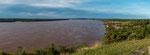 Hier ist der Rio Uruguay nicht mehr so breit dafür aber tief und schnell...