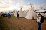 hundreds of tipis