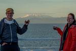 ...mit Ulla und Guido reicherten wir den Sonnenuntergang mit Rotwein an...