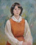 T夫人(2010) 15号油彩 優しい、若い妻であり2児の母親でもありました。
