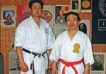 Sensei Ojiro und Hanshi Higuchi