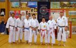 Die Mitglieder des Budokaj Lippstadt mit Hanshi Higuchi und Sensei Ojiro