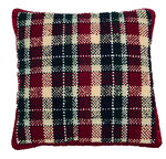 Code pillow, can you break the code? hand-dyed wool, rug hooked