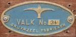 Bouwnummer 34 (Valk 11) na restauratie her-meten, nieuw zeilnummer Valk 817