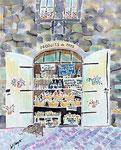 プロヴァンスの思い出/ED120/イメージサイズ205mmx250mm                                     ハーブの石鹸、ポプリにオリーブオイル、旅の思い出の香りがどこにいても南仏プロヴァンスの村へ連れて行ってくれる。