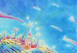 Midnight wish/ED75/イメージサイズ695mmx500mm                                                      天国に一番近い島で、流れ星に願いを込めて。