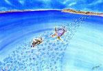 Water paradise/ED75/イメージサイズ710mmx510mm                        ニューカレドニのウベア島。ここはまさしく地球のパラダイス。
