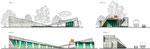Фасады павильонов лестничных сходов и лифтов для МГН