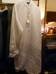 グランパシャツ ブルーストライプ  ¥4500  thanks sold