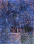「石造りの教会」F6 油彩