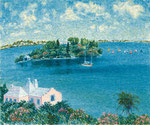 Morning Breeze in Bermuda oil painting, F20 (72.7X60.6cm)