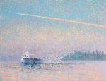 「ロブスター漁船」F10 油彩