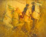 「メリーゴーランド」油彩 第44回国展