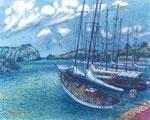 「アンティグア(昔、海賊の本拠地だった)」F15 油彩