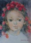 「花かんむり」3号 油彩
