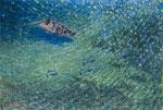 「むかし瀬戸内海にデゴンがいた」(2003年日本の海洋画展出品)F50 油彩