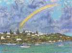 Rainbow oil painting, P8 (45.5X33.3)
