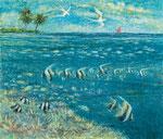 「海と空」F15 油彩