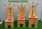 Beispiele verschiedener Sitzhöhen