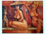 Moulin Rouge Dancers, 75 x 95 cm, Acryl auf Leinwand