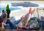 Fischertraum, 50 x 70 cm, Öl auf Leinwand